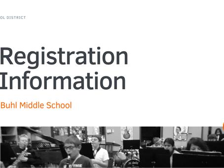 Buhl Middle School Registration Information 2021-22   ENG & SPA