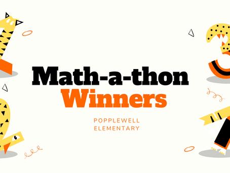 PES | Math-a-thon Winners