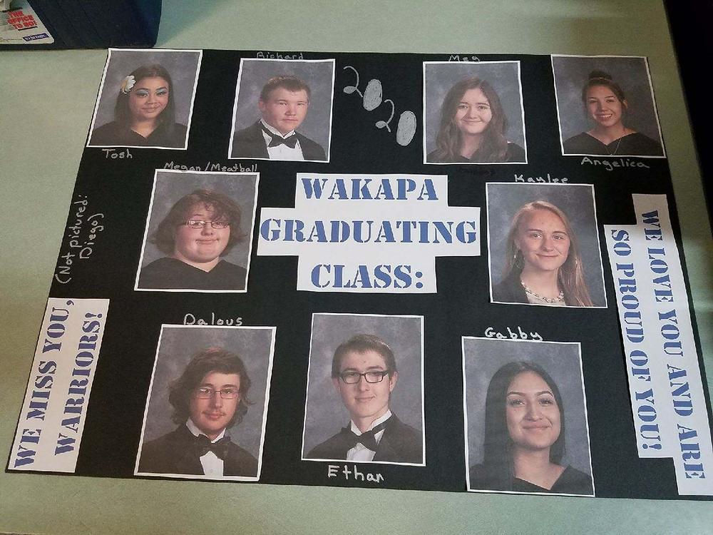 Wakapa Graduating Class  of 2020 Poster