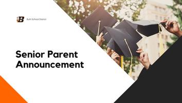 Announcement for Senior Parents