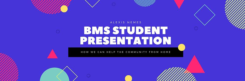 BMS Student Presentation Banner Image