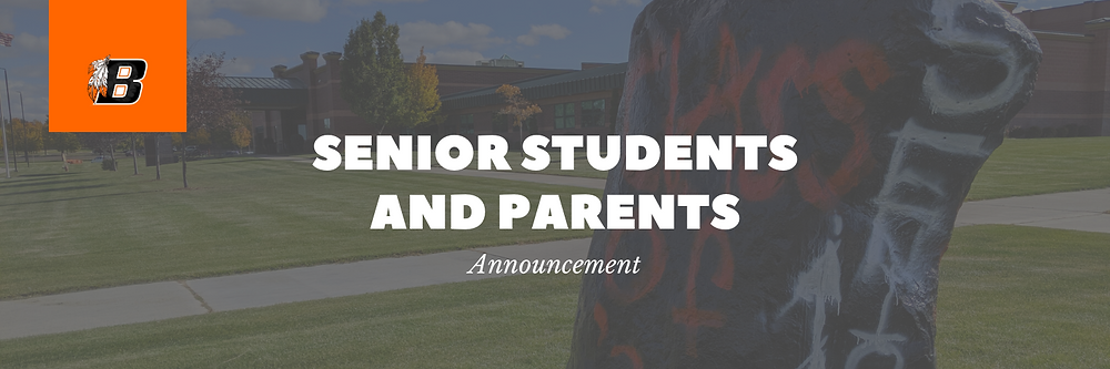 Senior Students and Parents | Announcement Banner