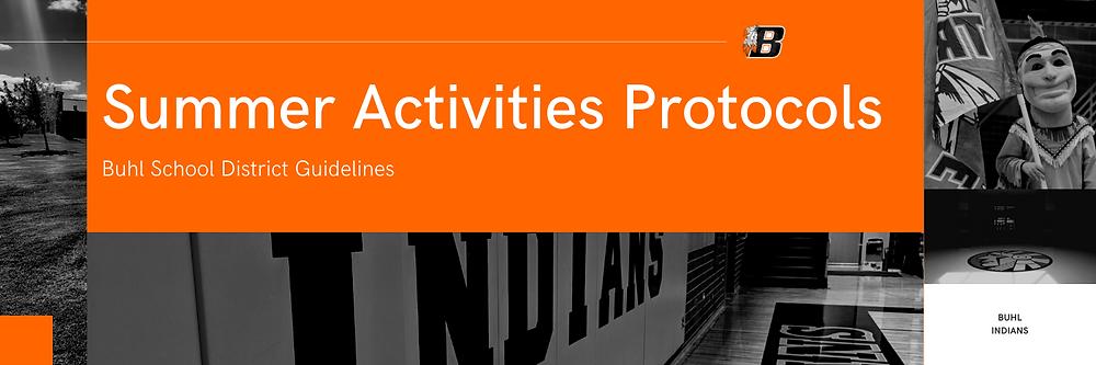 Summer Activities Protocols | Buhl School District Guidelines Banner Image