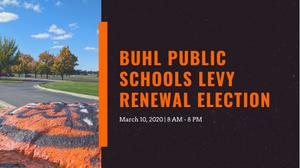 Buhl Public Schools Levy Election Banner Image