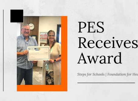 "PES Receives ""Steps for Schools"" Award"