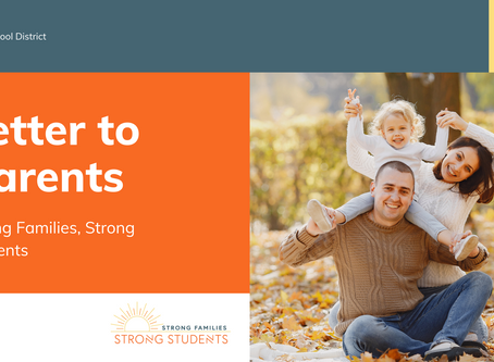 """Letter to Parents   Oct. 21 """"Strong Families, Strong Students"""" Program"""