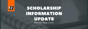 Scholarship Information Update | Buhl High School | Seniors