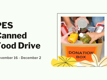 PES Canned Food Drive   Starting Soon!