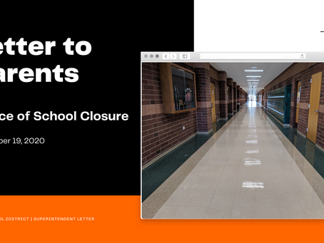 Notice of School Closure | Nov. 19