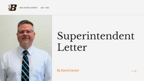 Superintendent Letter | August 13, 2021
