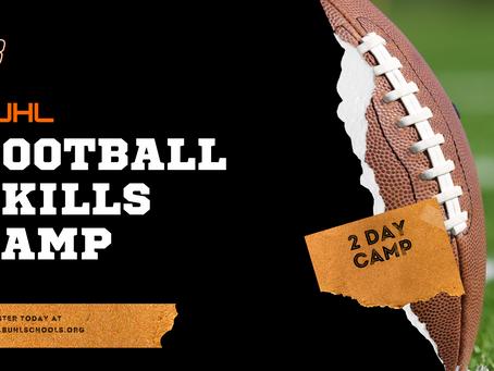 *Dates Updated - Summer Football Skills Camp