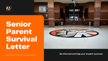 Senior Parent Survival Letter | BHS Counselor