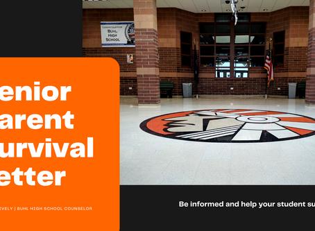 Senior Parent Survival Letter | BHS Counselor