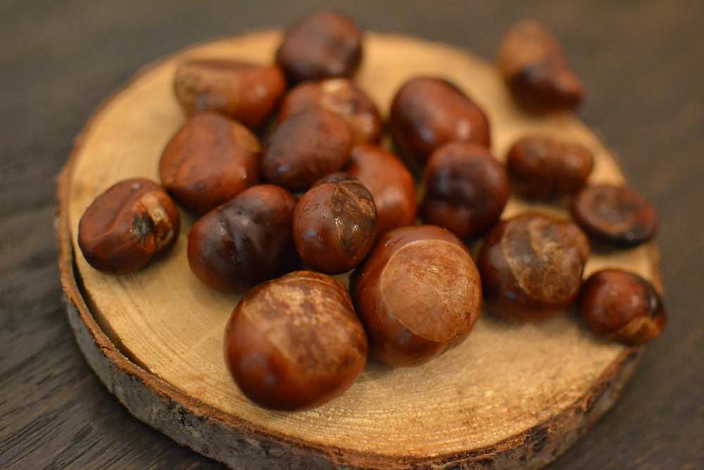 Collect and wash the horse chestnuts (make sure you don't have edible chestnuts).