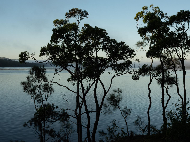 Blue dusk over the lake