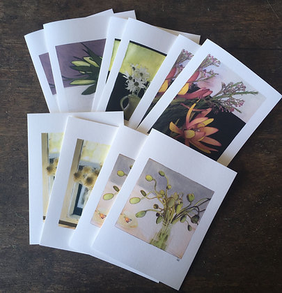 Still Life - series 1 -packs of 5 or 10 gift cards