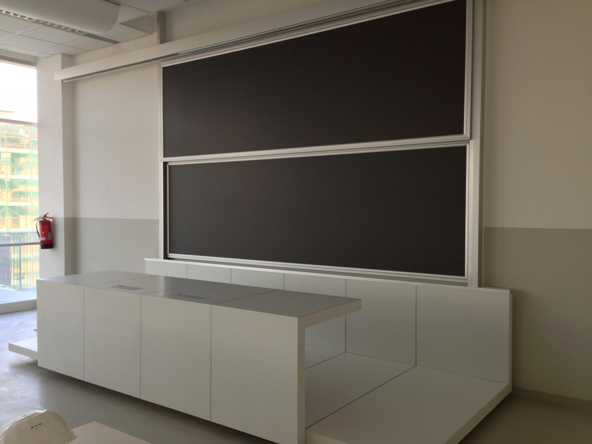 Platform and desks