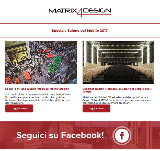 "Matrix4Design ""Contract Design Network, at Salone del Mobile the challenge is with the time"""