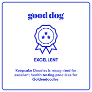 Good Dog Exellent Badge Goldendoodles.pn