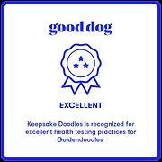 Good Dog Exellent Badge Goldendoodles.pn