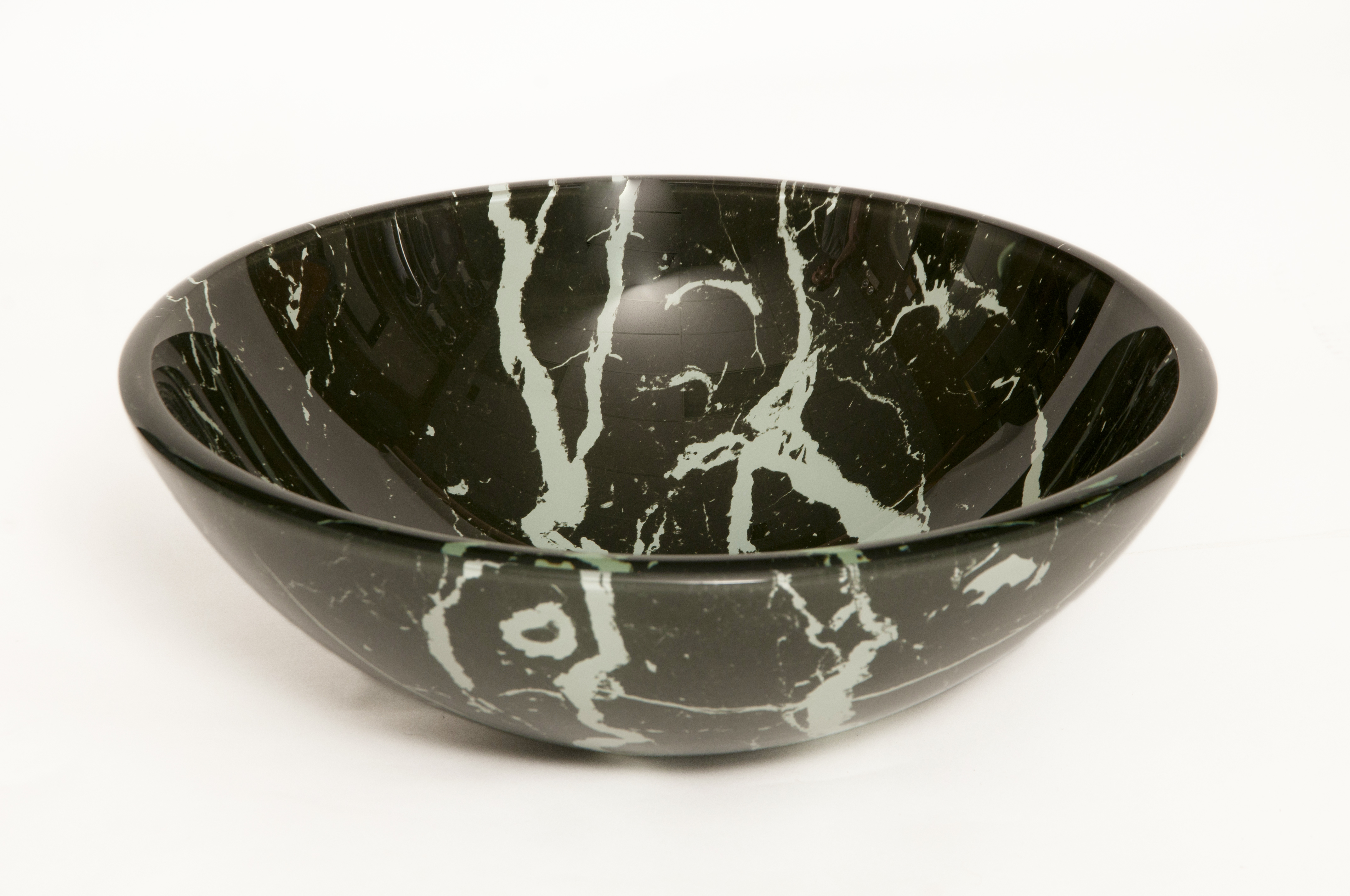 Black and White Marble Vessel