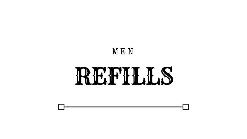 REFILLS MEN Luxury Designer Inspired Perfume Oil