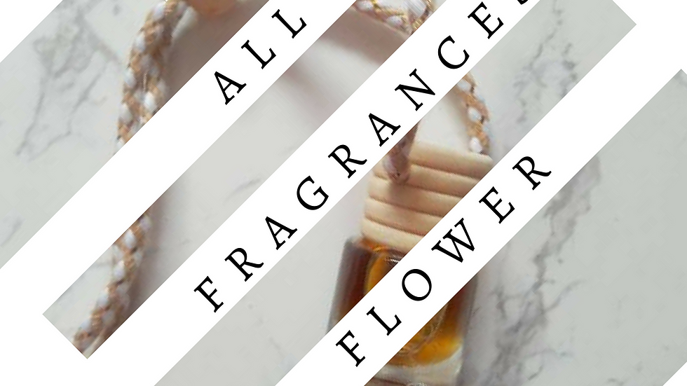 FLOWERY Luxury Designer Inspired Hanging Car Perfume Oil DiffuserFreshner