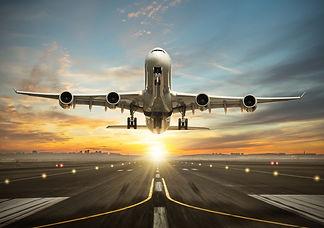 jet taking off, sunset.jpg