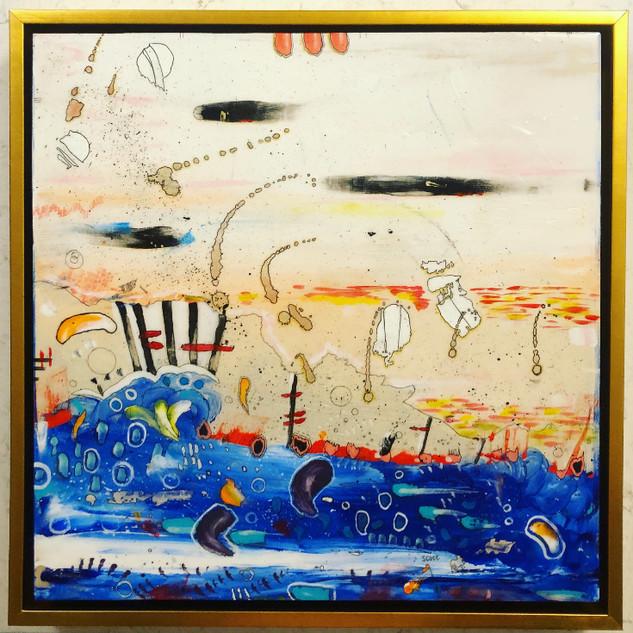 """Waves at Sunset"""