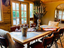 Cabin Table Setting