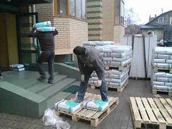 Подъём строительных материалов
