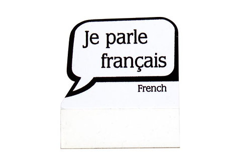 PAQUETE DE INSIGNIA DE CONVESACIONES JE PARLE FRANCAIS