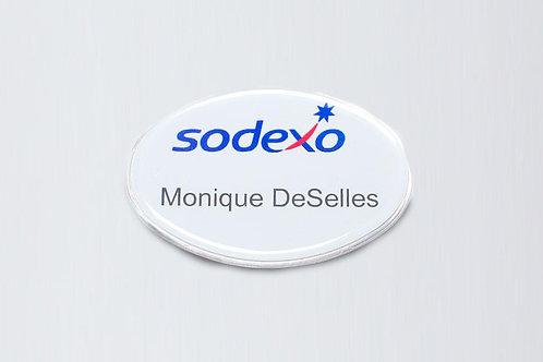"""PAQUETE DE GAFETES OVALADOS. 2.6 """"x 1.7"""""""