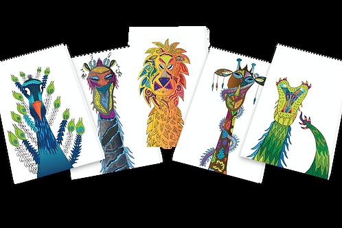 5 Fungal-Jungle-Too-Kool-To-Kill  Series Greeting Cards