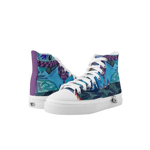 High Top Shoes with BlueShoe Design