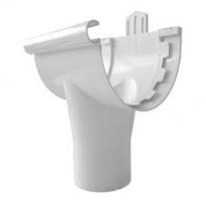 Bajada Canal Lluvia PVC blanco
