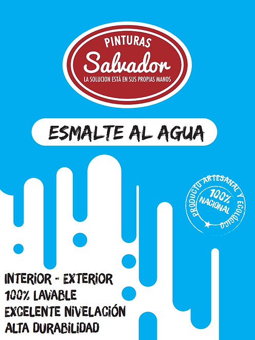 Esmalte al Agua 1lt Salvador Blanco