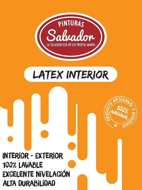 Latex Interior Galon 4lt Salvador blanco