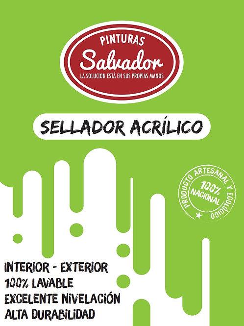 Sellador Acrilico Incoloro Tineta 15lt Salvador