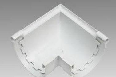 Esquinero para canaleta Lluvia PVC blanco