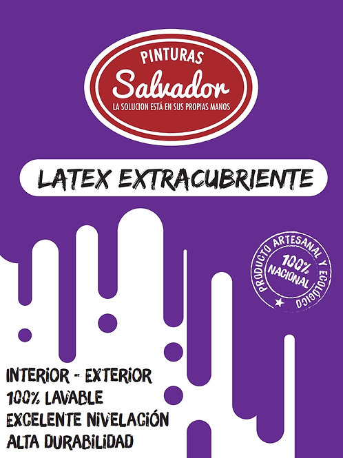Latex Extra Blanco Galon 4lt Salvador