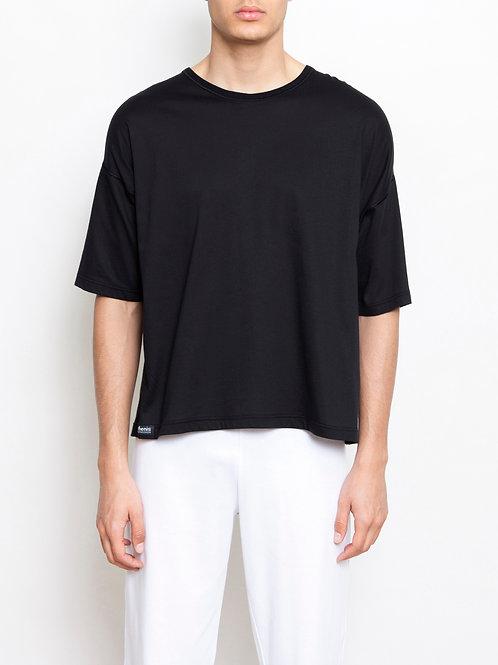 Parthenis Cotton T-Shirt Black