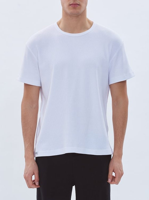 Parthenis Ribbed Cotton Top White