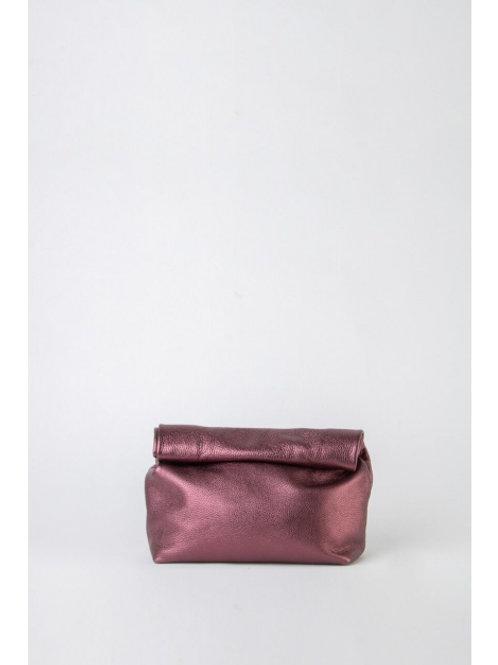 Hug, Shimmering Purple Leather Lunch Bag