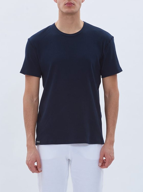 Parthenis Ribbed cotton Navy