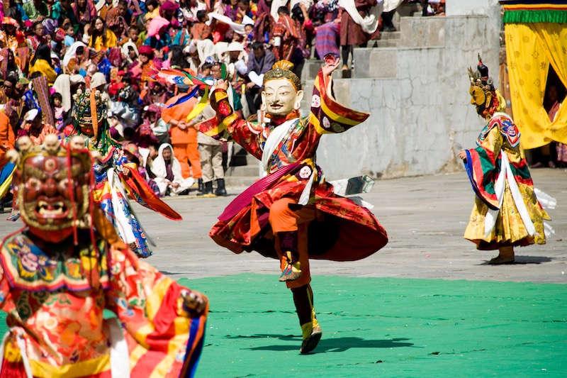Festival en Bután. ©Asier Calderón (todos los derechos reservados)