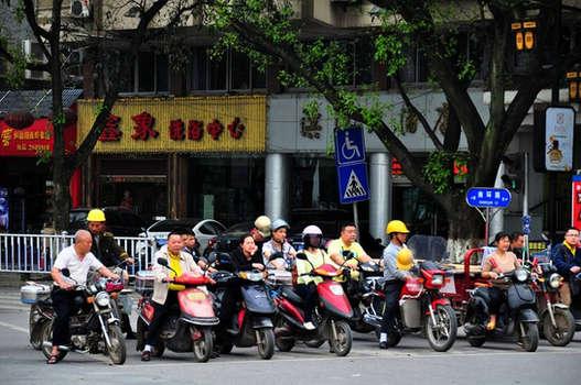 Tráfico en Pekín. ©Asier Calderón (todos los derechos reservados)