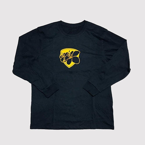 Rajapruek : Tee Shirt : Long Sleeves : Navy Blue