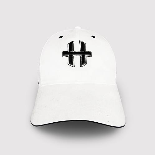 Helios Snapback Cap : White