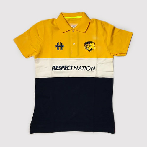 HxTRU / Respect Nation : Cotton Polo : Yellow